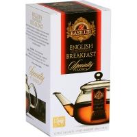 Черный чай Basilur Английский завтрак пакетированный, 10х4г