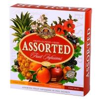 Чай Basilur Ассорти, коллекция Фруктовые коктейли, пакетированный 40х1,8гр