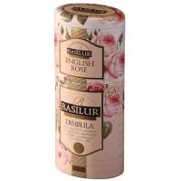 Черный чай Basilur Димбула и Роза 2в1, коллекция Цветы и фрукты Цейлона, ж/б 50г+75г