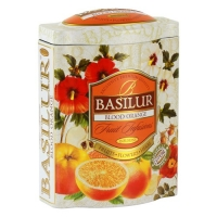Фруктовый чай Basilur Красный Апельсин, коллекция Фруктовый коктейль, ж/б 100г