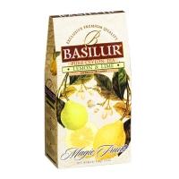 Черный чай Basilur Лимон и лайм, коллекция Волшебные фрукты, картон 100г