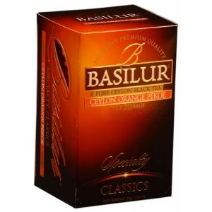 Черный чай Basilur О.Р. В пакетиках, коллекция Избранная классика, 20х2г