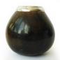 Калабас для питья мате с металлической каемкой арт.  JV102
