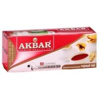 Черный чай Akbar (Акбар) Black tea Пакетований 50г (25x2г)