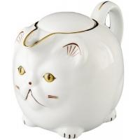 Фарфоровый молочник Кот с чаем арт. 10-059 200г