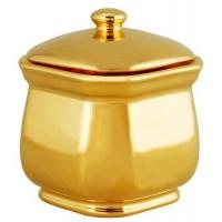 Фарфоровая сахарница Октагонал золотая арт. 10-061