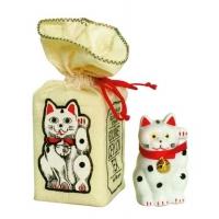 Фарфоровый кот Гуд лак Манэки-нэко арт. 10-066 50г